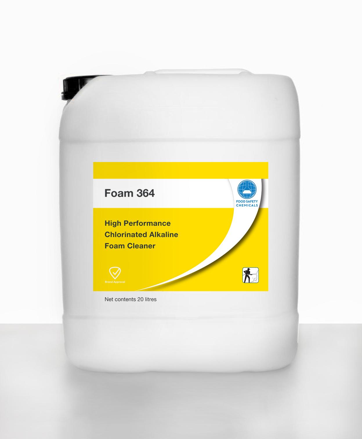 Foam 364 – Liquid Alkaline Chlorinated Foam Cleaner